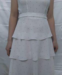 Đầm Voan Xếp Tầng 2 Dây